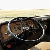 Interior of farm truck.