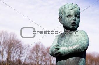 Little Boy Statue
