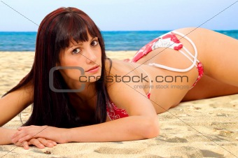 bikini girl at the beach