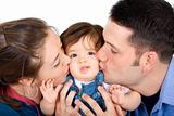 family portrait kissing