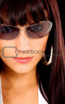 fashion girl portrait with sunglasses