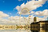 london-eye reflection