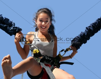 Girl having fun