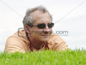 A man on the grass