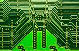 close up of computer circuits