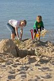 building sandcastles