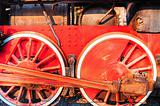 lVintage locomotive wheels