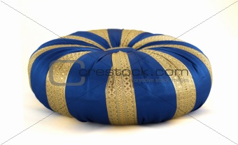 blue oriental pillow