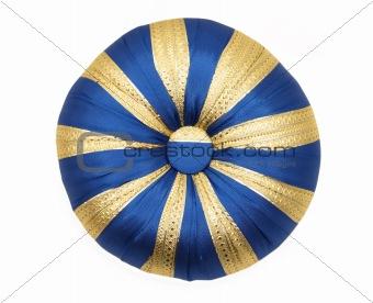 Blue round pillow