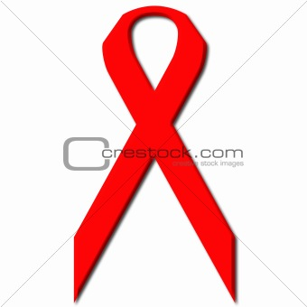 Awareness Red Ribbon a symbol for the fight against Aids and Drug Abuse