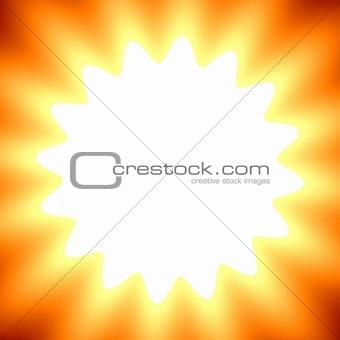 Bright flower frame
