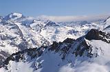 snowed mountainrange
