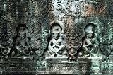 Sculpted buddhas, Siem Reap, Cambodia