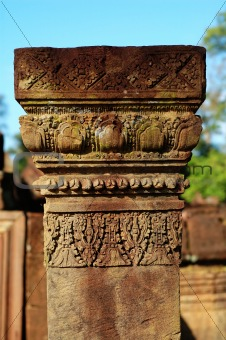 Carving boundary stone at Banteay Sreiz, Cambodia
