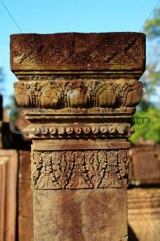 Carving boundary stone at Banteay Sreiz, Cambodia