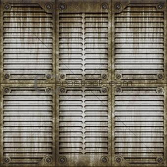 Metal window surface