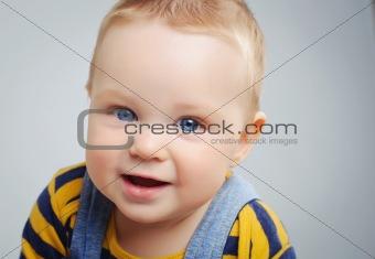 portrait of cute little boy