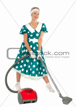 Cute Young Retro Housewife