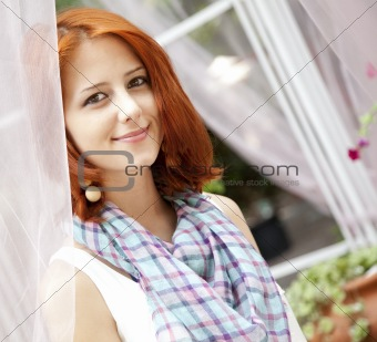 Portrait of beautiful girl at outdoor.