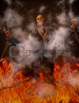 Man Chained in Hell