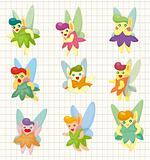 cartoon little baby fairy icon