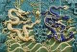 Chinese dragon wall motifs