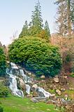 """Landscaped gardens at Sheffield Park Gardens, a National Trust site which was originally designed by Lancelot """"Capability"""" Brown in the 18th Century"""
