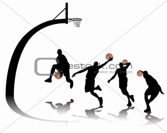 basketball silhouettes