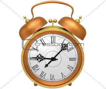 bronze alarm clock