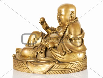 Ancient Figurine Cheerful Hotei.