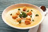 Bowl of fresh butternut soup