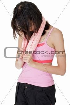 Tired girl of fitness