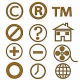 Wooden symbols