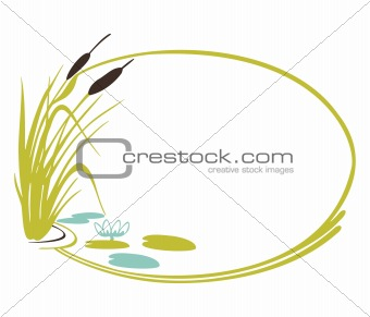 Background with cane. Vector