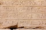 ancient egypt hieroglyphics in karnak temple