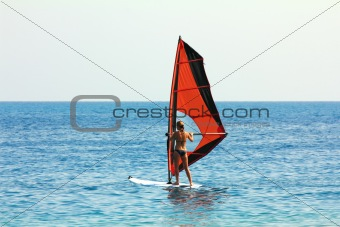 windsurf - surfer girl
