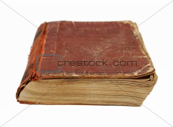 old battered book