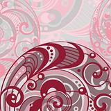 abstract bright background with spiral
