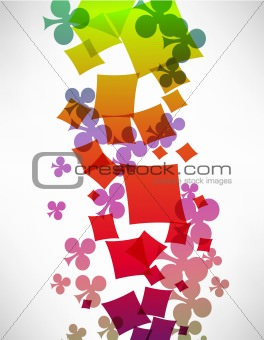 Abstract background with card suits.