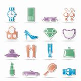 woman and female Accessories icons