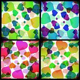 Set abstract background with card suits.