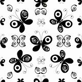 White-black seamless pattern