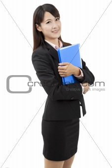 Portrait of a young attractive businesswoman