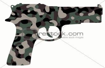 camouflage gun