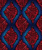Abstract red and blue seamless pattern.