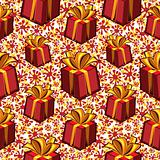 Gift boxes seamless pattern.