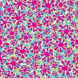 Colorful splashes seamless pattern.
