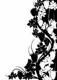 Black and white grape pattern