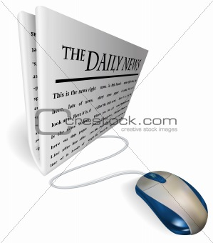 Mouse and  news paper concept