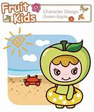 Active Child Summer Beach Swimming